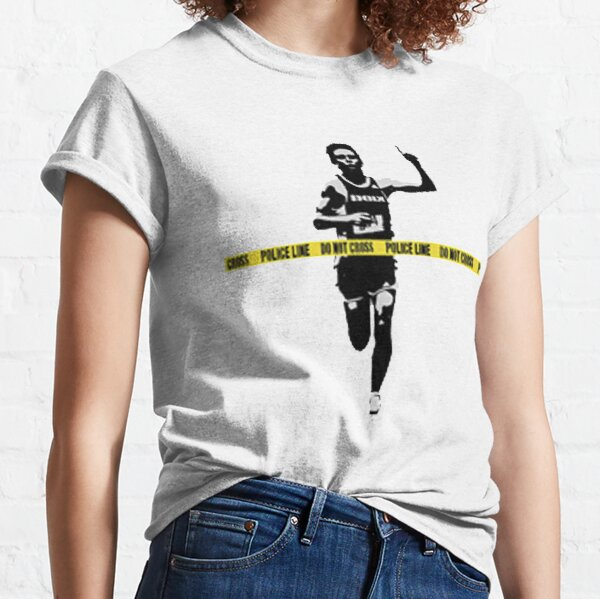 Banksy Marathon Runner Police Line Classic T-Shirt