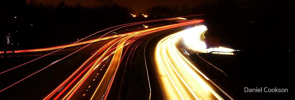 Dual light trails by Daniel Cookson