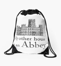 My other house is an Abbey Drawstring Bag