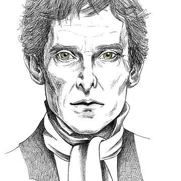 Portrait of Jeremy Brett  by NadddynOpheliah