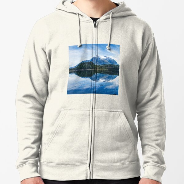 Mountain Reflection Zipped Hoodie