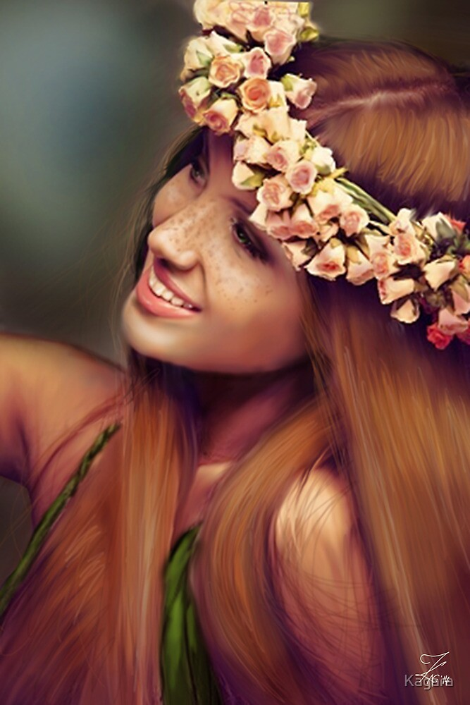 Flowers in her hair by Kagara