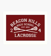 Beacon Hills Lacrosse Art Print