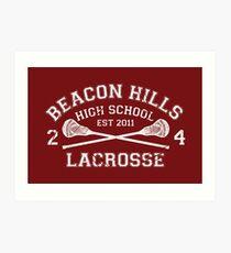 Beacon Hills Lacrosse Art Print