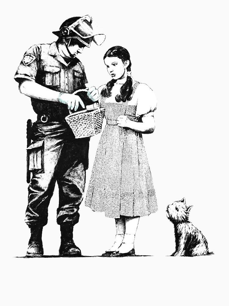 Banksy Policeman Searching Dorothy  by ThatMerchStore