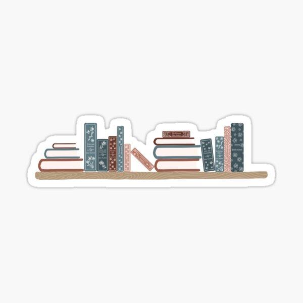 Jane Austen Bookshelf Sticker