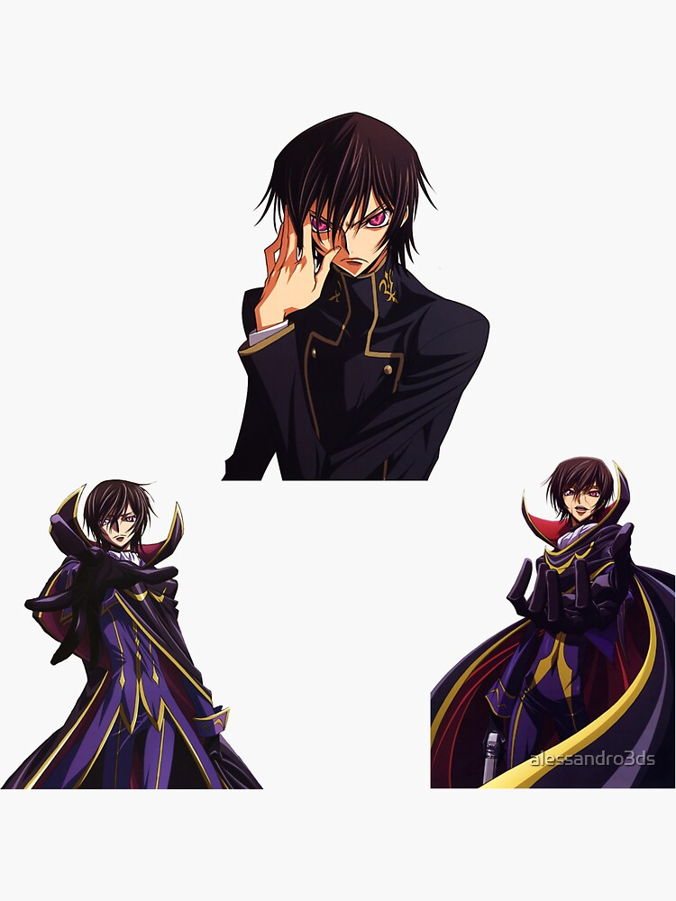 Lelouch Sticker Pack by alessandro3ds