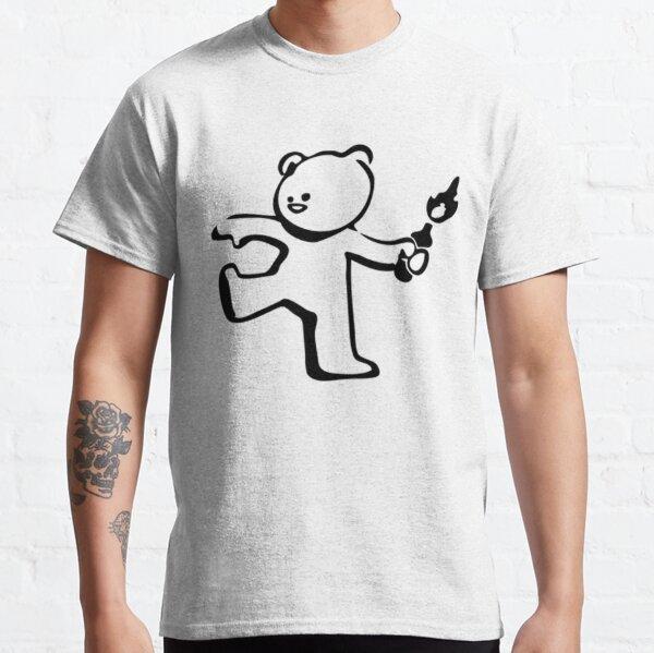 Banksy Teddy Bear Protest Molotov Cocktail  Classic T-Shirt
