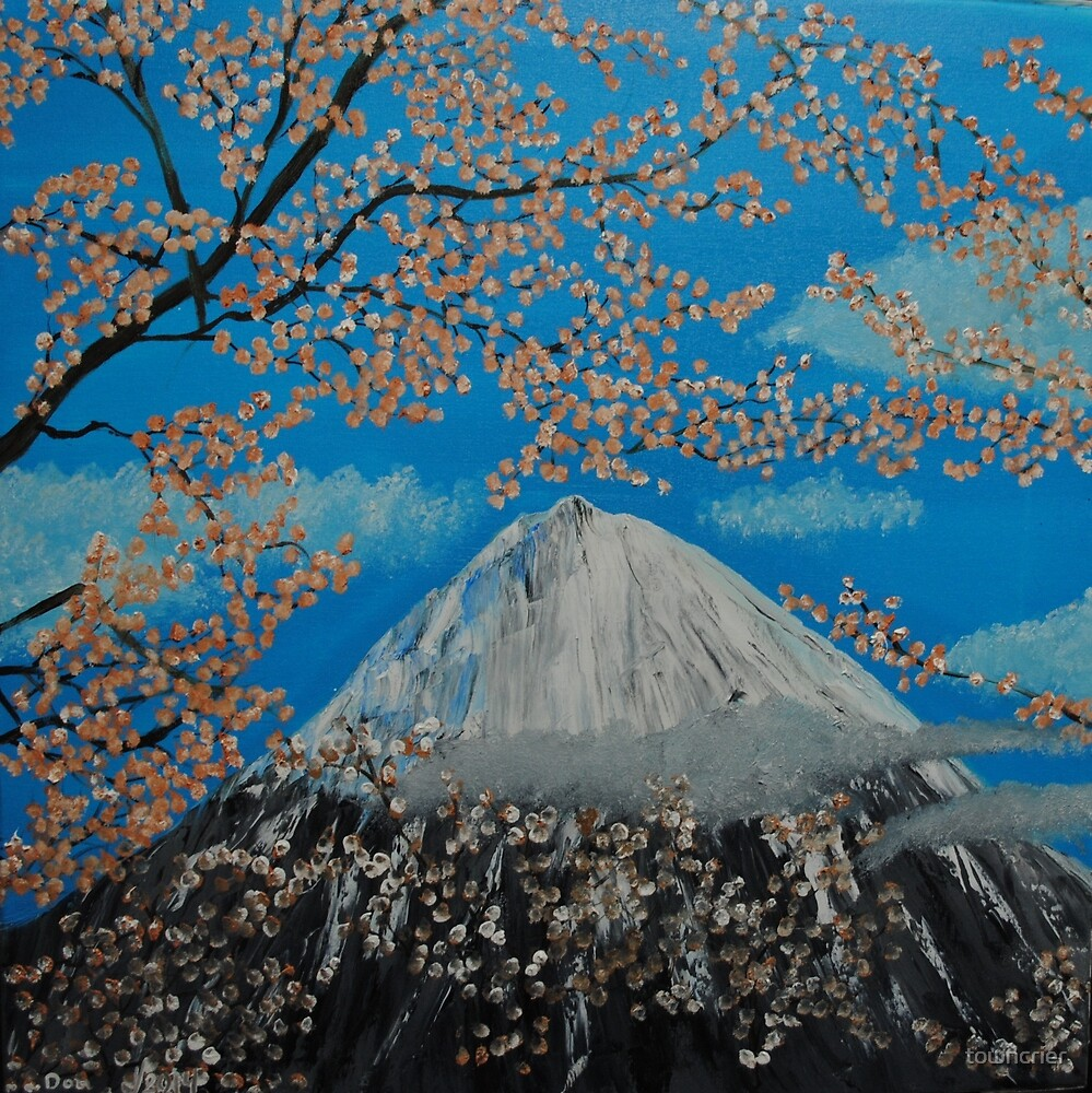 Mt. Fugi at Cherry Blossom Time by towncrier