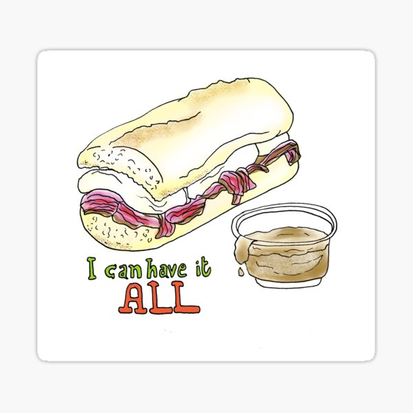 I can have it all! 30 Rock tribute Sticker