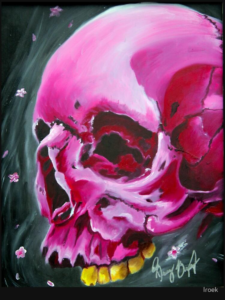 Pink skull, spring skull by Iroek