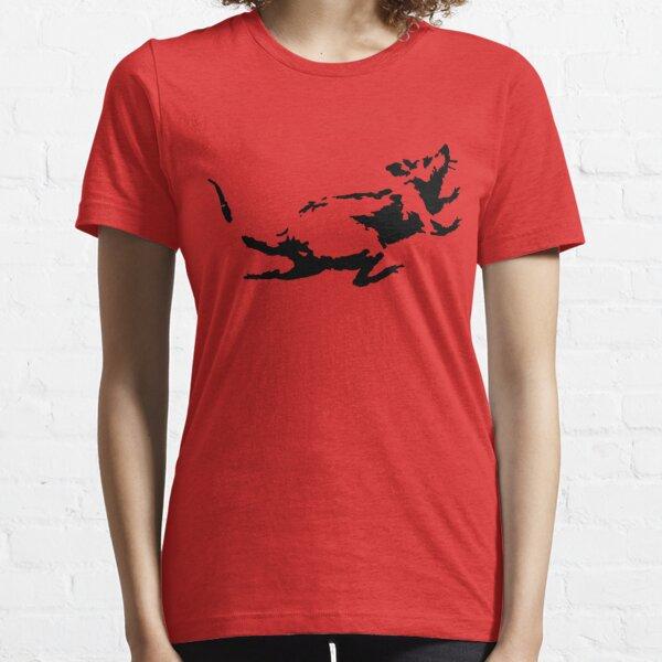 Banksy Rat Running in a Clock Essential T-Shirt
