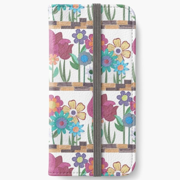 Floral Collage iPhone Wallet