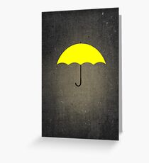 You are my Yellow Umbrella Greeting Card