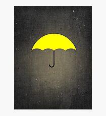 You are my Yellow Umbrella Photographic Print