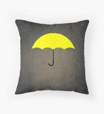 You are my Yellow Umbrella Throw Pillow