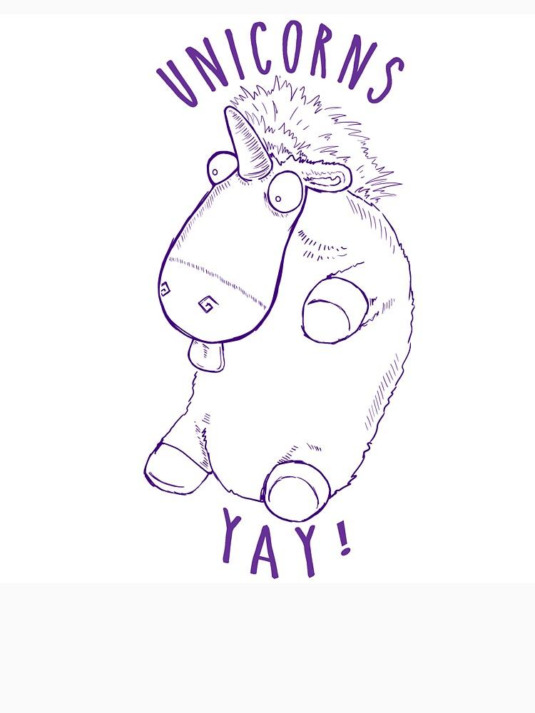 Unicorns Yay! no color by Spankyaces