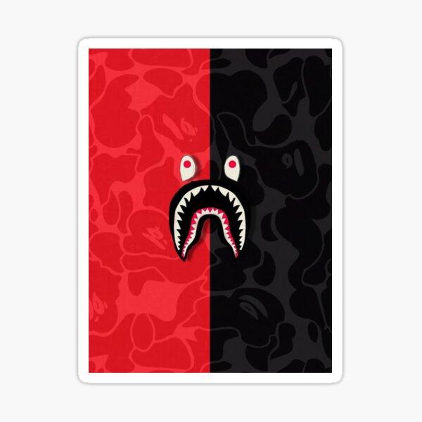 Red and Black Bape Camo Sticker