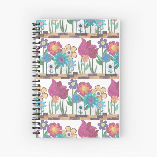 Floral Collage Spiral Notebook