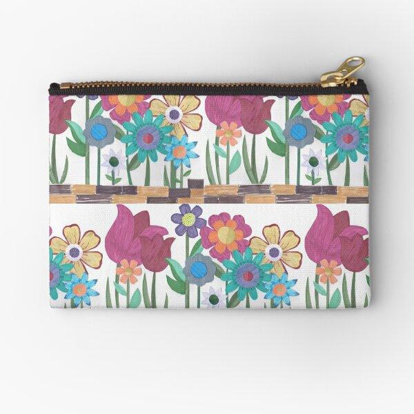 Floral Collage Zipper Pouch