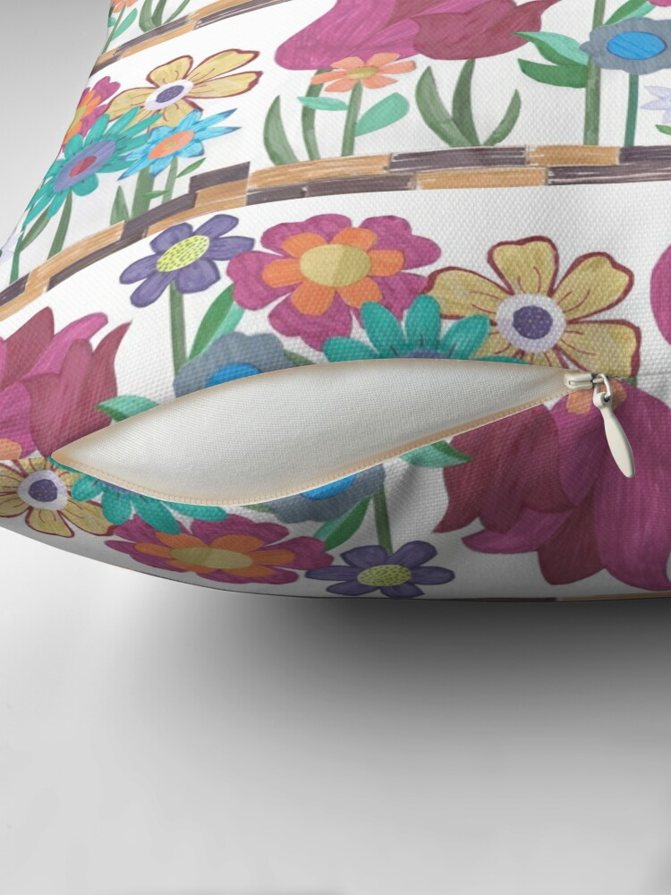 Alternate view of Floral Collage Floor Pillow