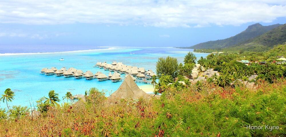 Moorea Coral Reef and Peaks by Honor Kyne