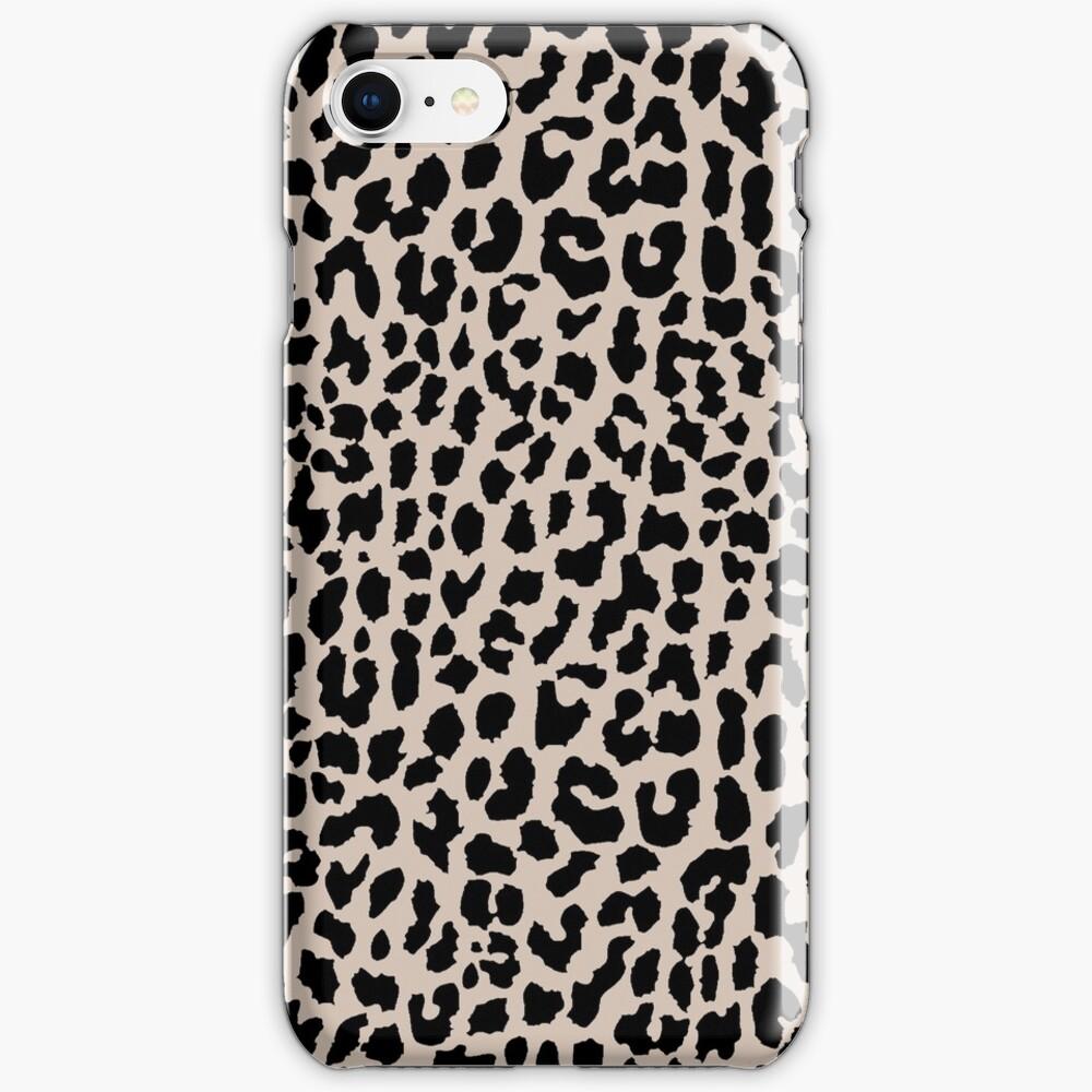 Tan Leopard iPhone Case & Cover