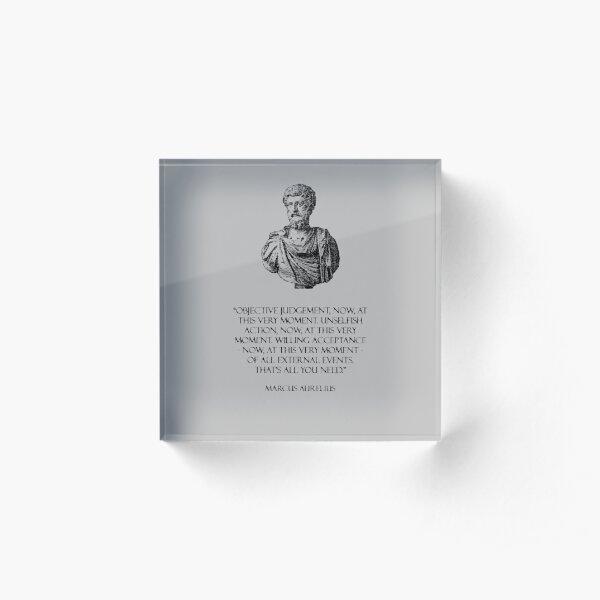 Marcus Aurelius - Stoicism Acrylic Block