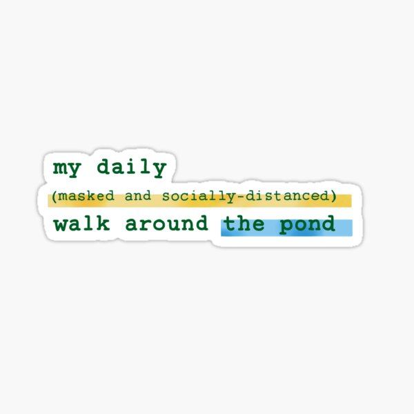 socially distanced walk Sticker