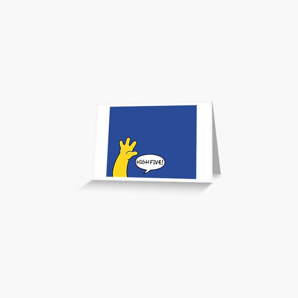 High five! Greeting Card