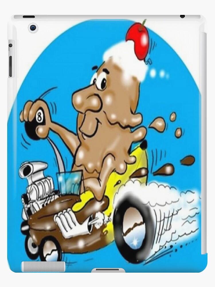 RACE CAR CARTOON TABLET CASE by InspireCartoons
