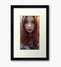 Karen Gillan Makeup (Photoshoot) Framed Print