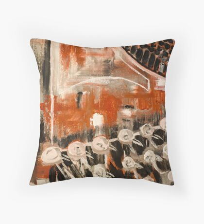 Well-used Throw Pillow