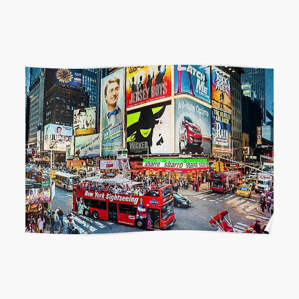 Times Square II (digitally remastered) Poster