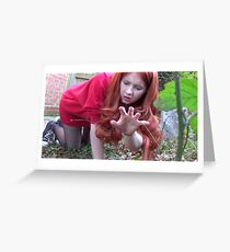 Amy Pond (Flesh and Stone/Time of Angels Cosplay) Greeting Card