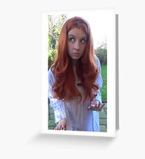 Amy Pond (The Beast Below Cosplay) Greeting Card