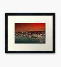 Shepards Wharf IOW Framed Print