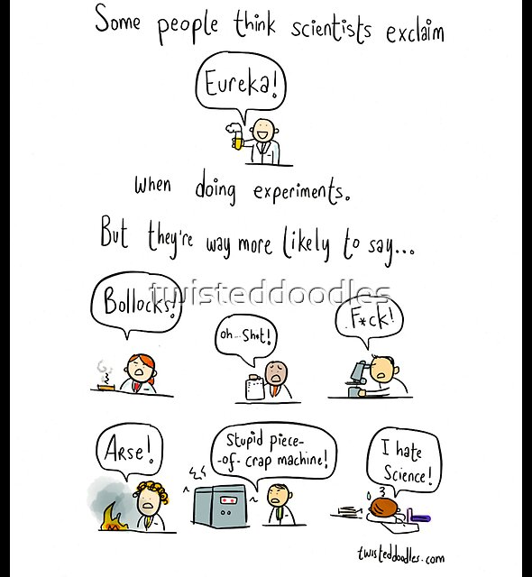 The truth about working in science by twisteddoodles