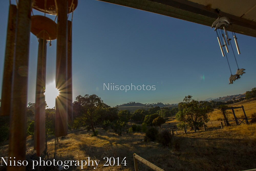the morning  view farm site  by Niisophotos