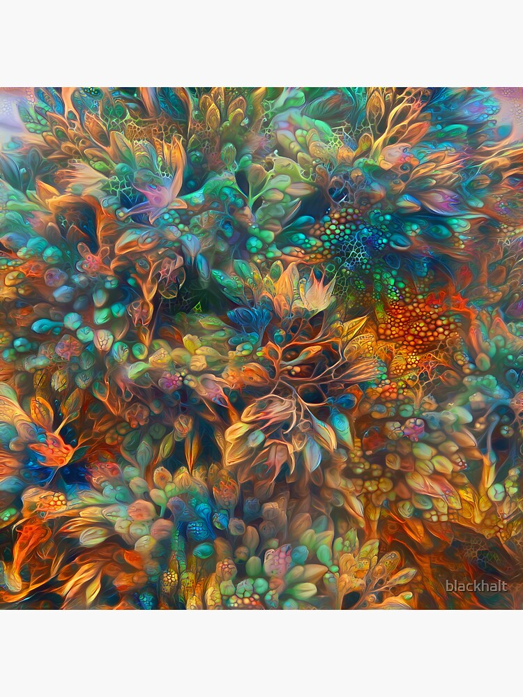 Fantasy floral abstract digital painting by blackhalt