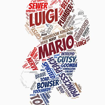 Wordle Mario  by LinkXavier