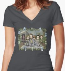 The Walking Dead by Kenny Durkin Women's Fitted V-Neck T-Shirt