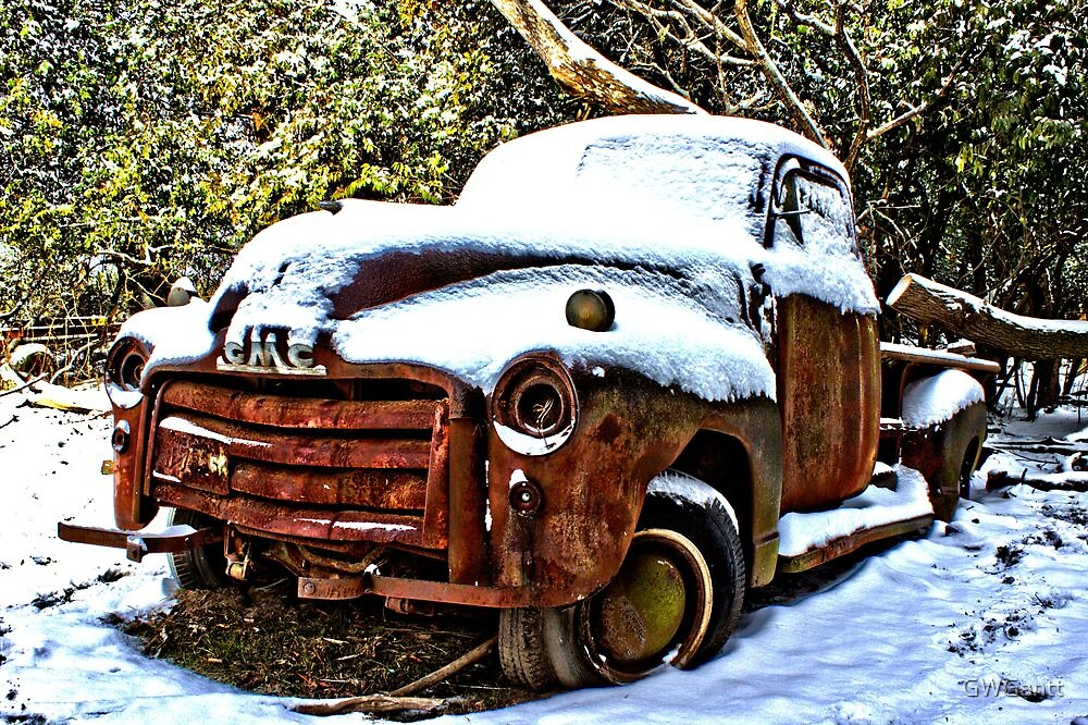 Snow covered GMC by GWGantt