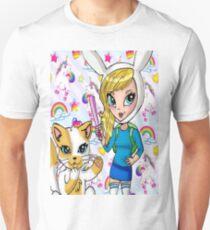 Fionna and Cake + Lisa Frank  T-Shirt