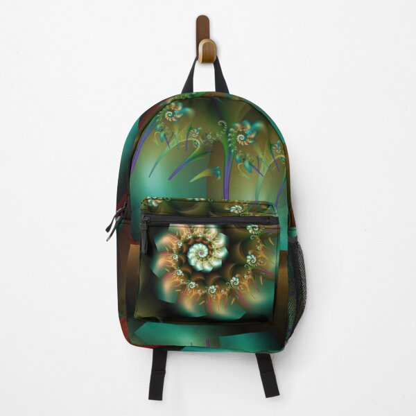 green decorative abstract spiral Backpack