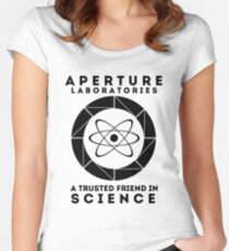 Aperture - Science Friend Women's Fitted Scoop T-Shirt