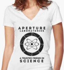 Aperture - Science Friend Women's Fitted V-Neck T-Shirt