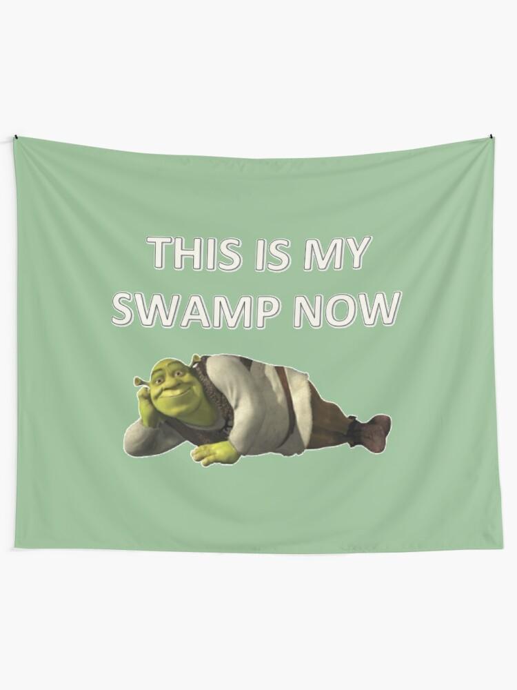 Alternate view of Shrek Tapestry