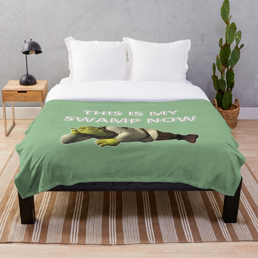 Shrek Throw Blanket