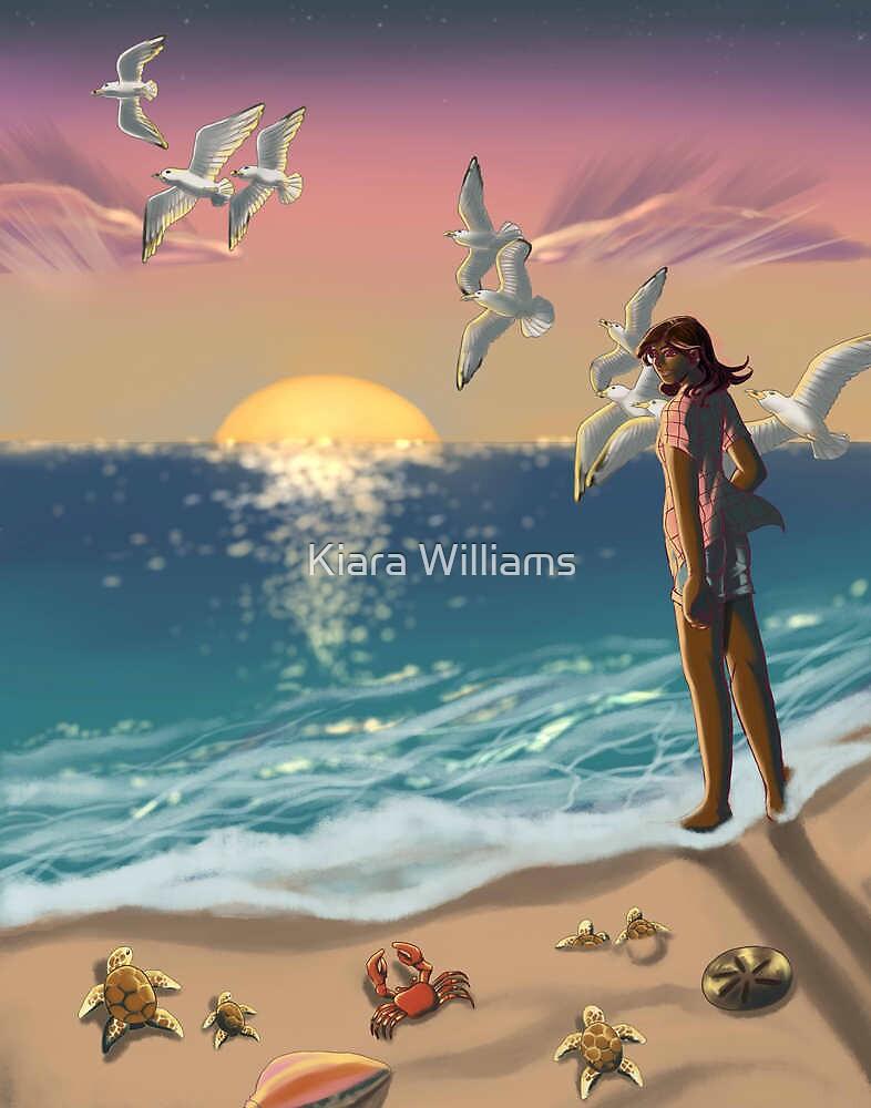 Elysia and the Beach by Kiara Williams